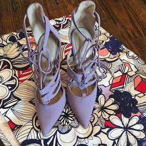 Purple Shoe Republic LA Strappy Heels